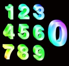 幻彩水晶立體數字