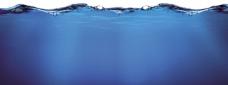 蓝色水背景