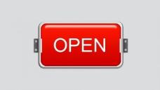 指示牌 open 灯箱图片