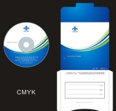 蓝色企业光盘设计CDR图片