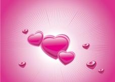 粉色时尚动感情人节爱心背景图片