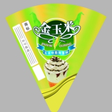 金玉米 冰淇淋筒图片