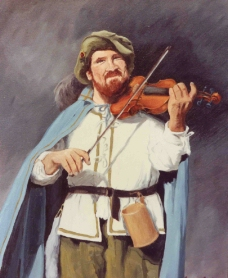 音乐家油画图片