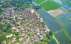航拍古村落图片