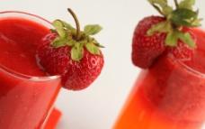 草莓汁图片