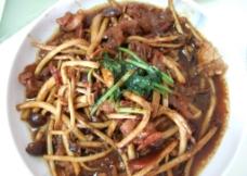 茶树菇 炒肉片图片