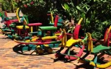 彩色木馬图片