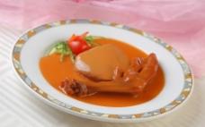 鲍汁扣鹅掌白灵菇图片