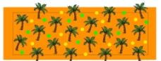 椰树拼贴纸图片