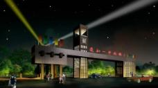 亳州市一中大门夜景图图片