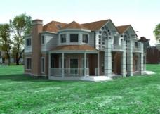 室外模式型 房屋 洋房图片