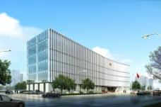 检察院大楼广告效果图设计图片