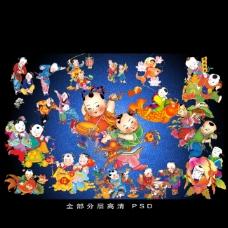中國古代童子大全圖