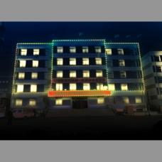 大樓LED燈效果圖PSD下載