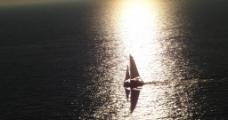 希腊爱琴海的日落图片