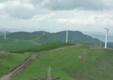 风力发电全景图片