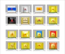 形象墙样式设计图片