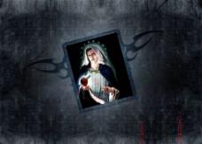 圣母圣心图片