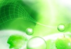 綠色線條背景圖片