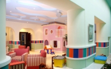 彩色儿童活动房间图片