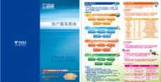 中国电信天翼3G宣传三折页图片