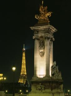 巴黎夜景图片