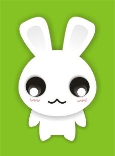 萌兔表情图片