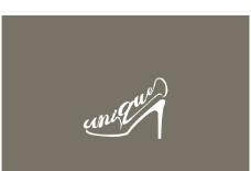 高跟鞋 文字矢量图图片
