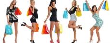 美女购物图片