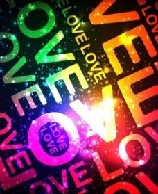 炫彩英文字母背景矢量素材图片