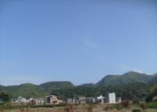 山林的蓝天图片