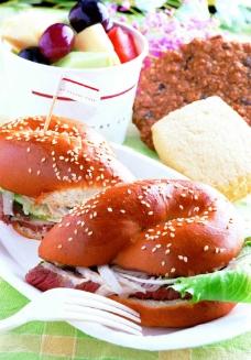 沙拉漢堡图片