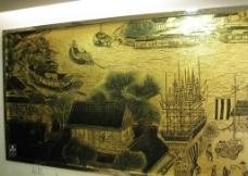 金箔画 清明上河图 清明上河图图片