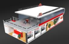 PSD繪制的展廳效果圖圖片