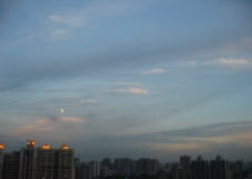 都市黄昏图片