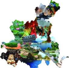 红河州地区景点分布图(旅游版)图片