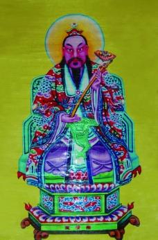 玉清图 门神图片