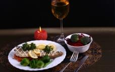 烛光 晚餐 西餐美食图片