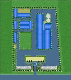 厂区绿化平面示意图图片