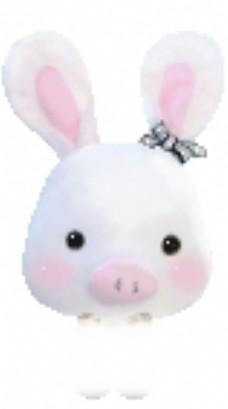 q版动图可爱动物表情兔子图片