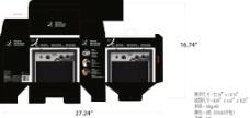 音箱彩盒包装设计图片
