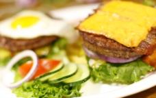 西餐美食 火腿芝士三明治图片