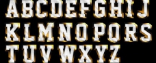26个字母 金色字图片
