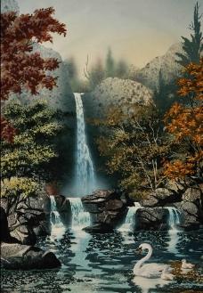 河塘风景图片