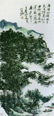 西溪放棹图轴图片