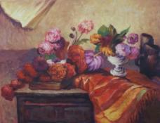 鲁东油画花卉图片