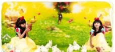 儿童主题摄影样册 白雪公主图片