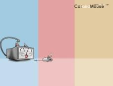 桌面猫和老鼠显示器鼠标图片