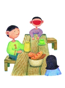 小孩吃饭图片图片