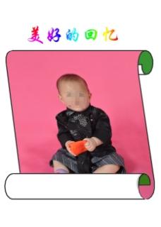 儿童照片模板下载  照片背景素材